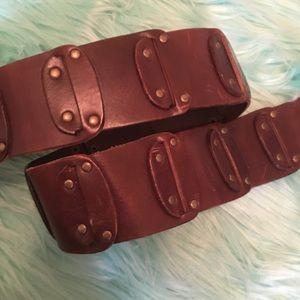 Banana Republic Brown Wide Leather Belt L